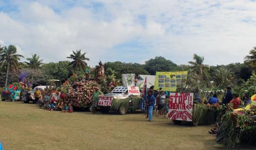 Mauke Pacific Island Constitution Day Float Parade 2013